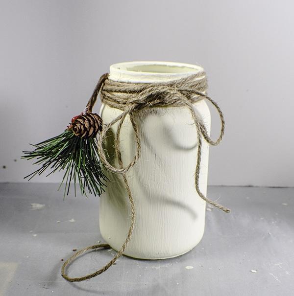 Make Painted Christmas Mason Jars