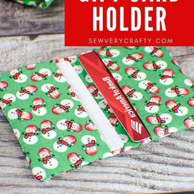 How to Make A Double Fabric Gift Card Holder