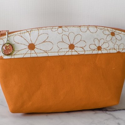 How to make a curve top makeup bag