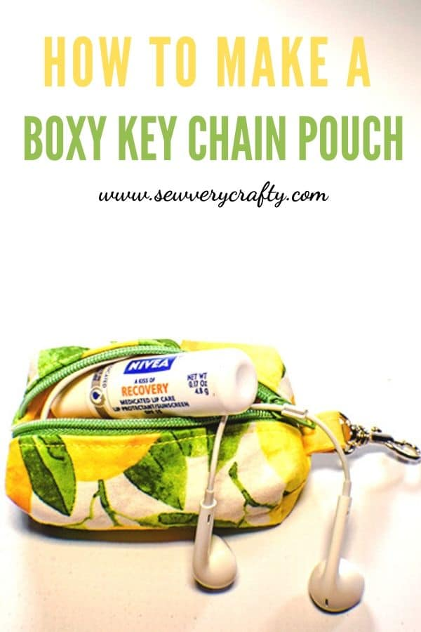 How to Make aboxy key chain zipper pouch