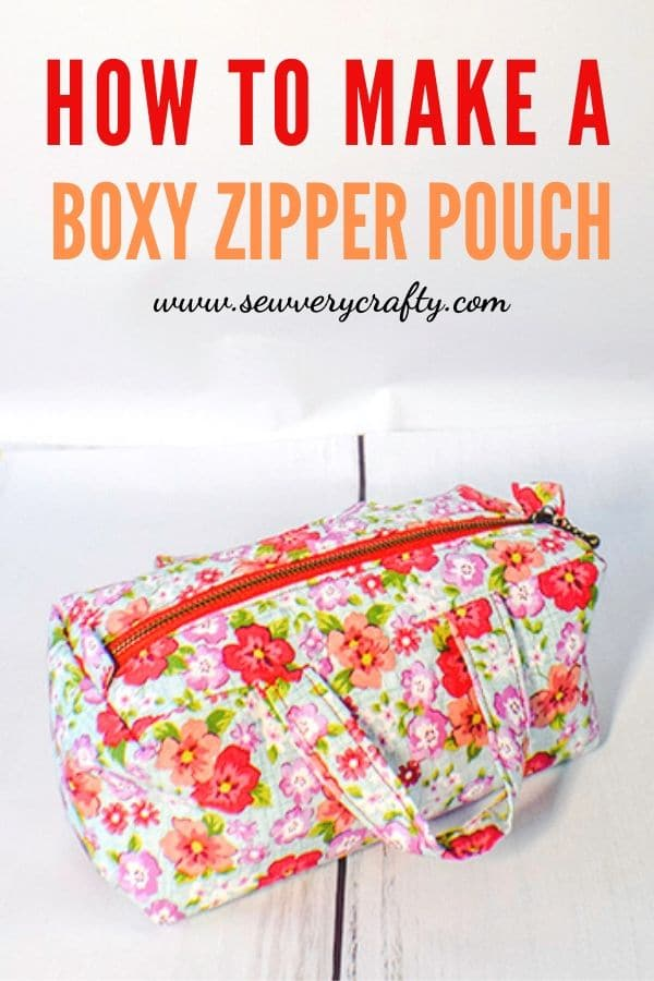 How to Make a Box Zipper Pouch with Handles