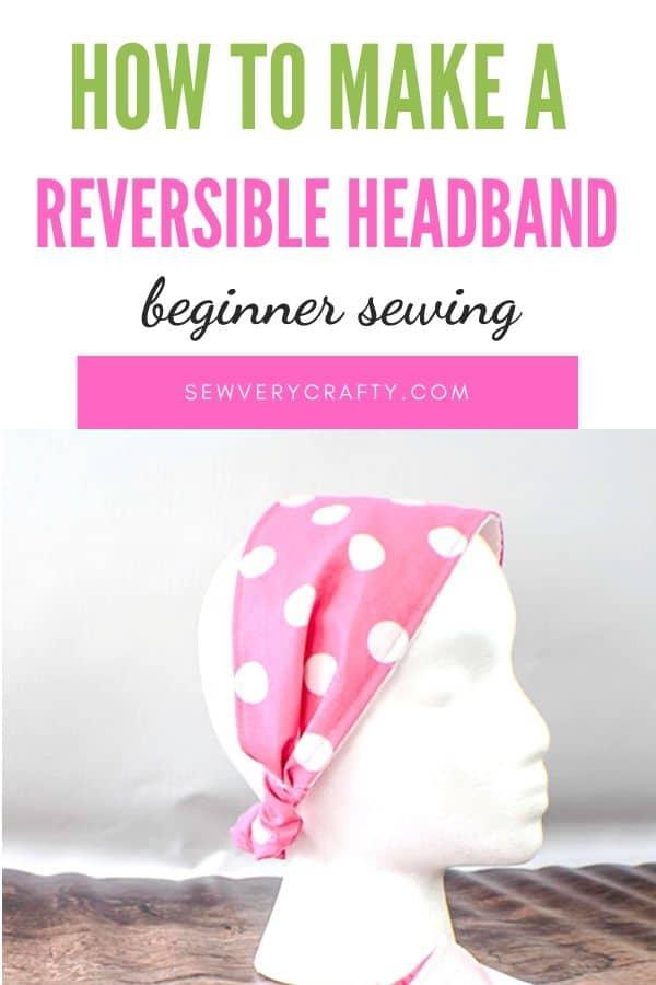 How to make an elastic back headband