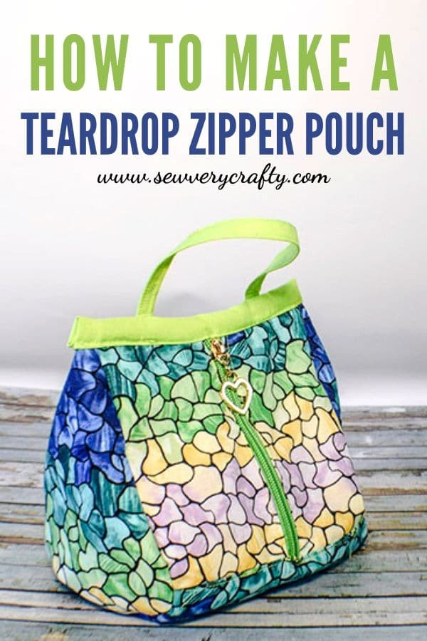 How to make a teardrop zipper pouch