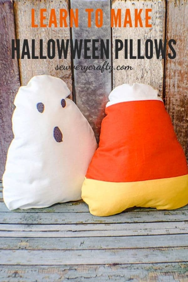 How to Make Candy Corn Throw Pillows