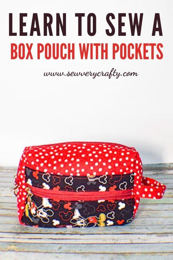 Learn to sew a zippered box ouch with pockets