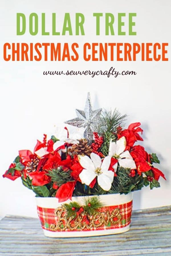 How to Make a Dollar Tree Christmas Centerpiece