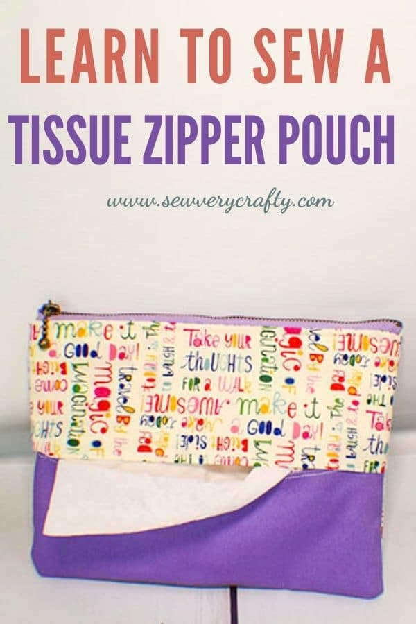 How to Make a Tissue Zipper Pouch