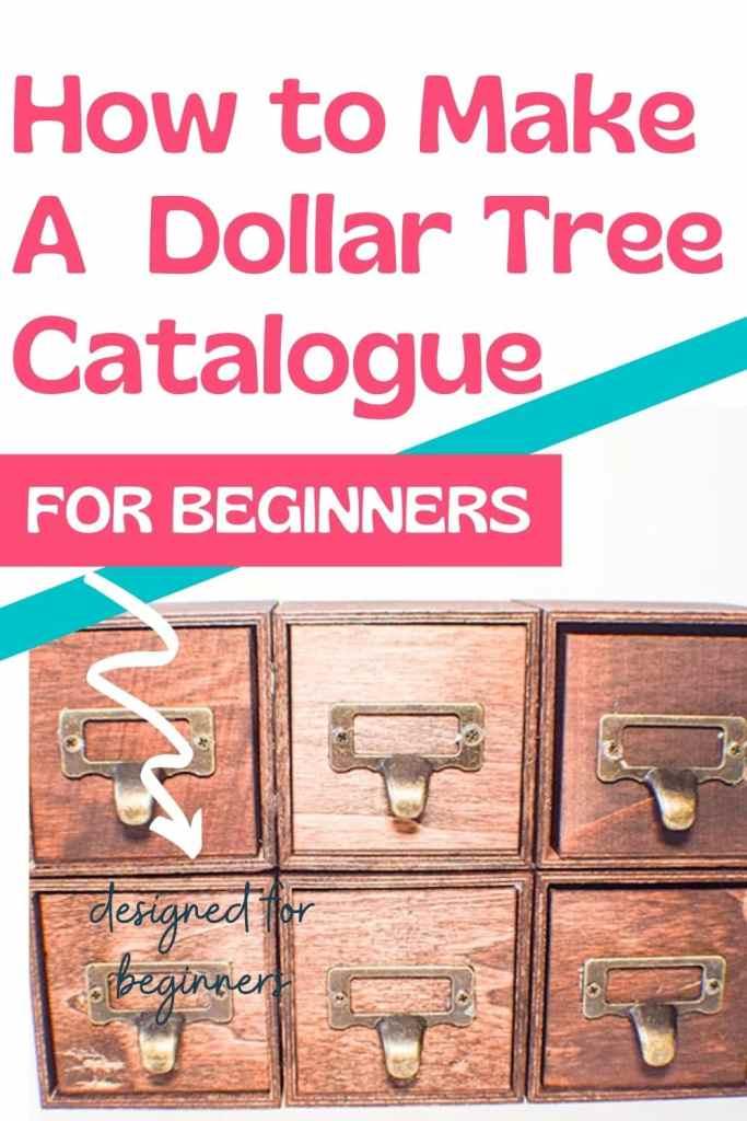 How to Make a Dollar Tree Mini Card catalogue