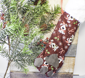 How to Make a Dog Paw Christmas Stocking