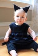 Sew Well Halloween - Black Kitten - Oliver + S Bubble Dress made from #MoodFabrics