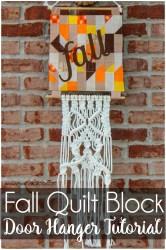 quilt block fall tutorial door hanging sewwhatalicia blocks hanger