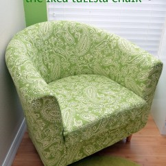 Diy Living Room Chair Cover Modern Wall Mount Tv Design Ideas Recovering The Ikea Tullsta Sew Woodsy