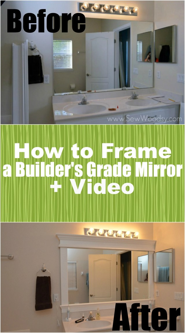 title Video How to Frame a Builder s Grade Mirror title