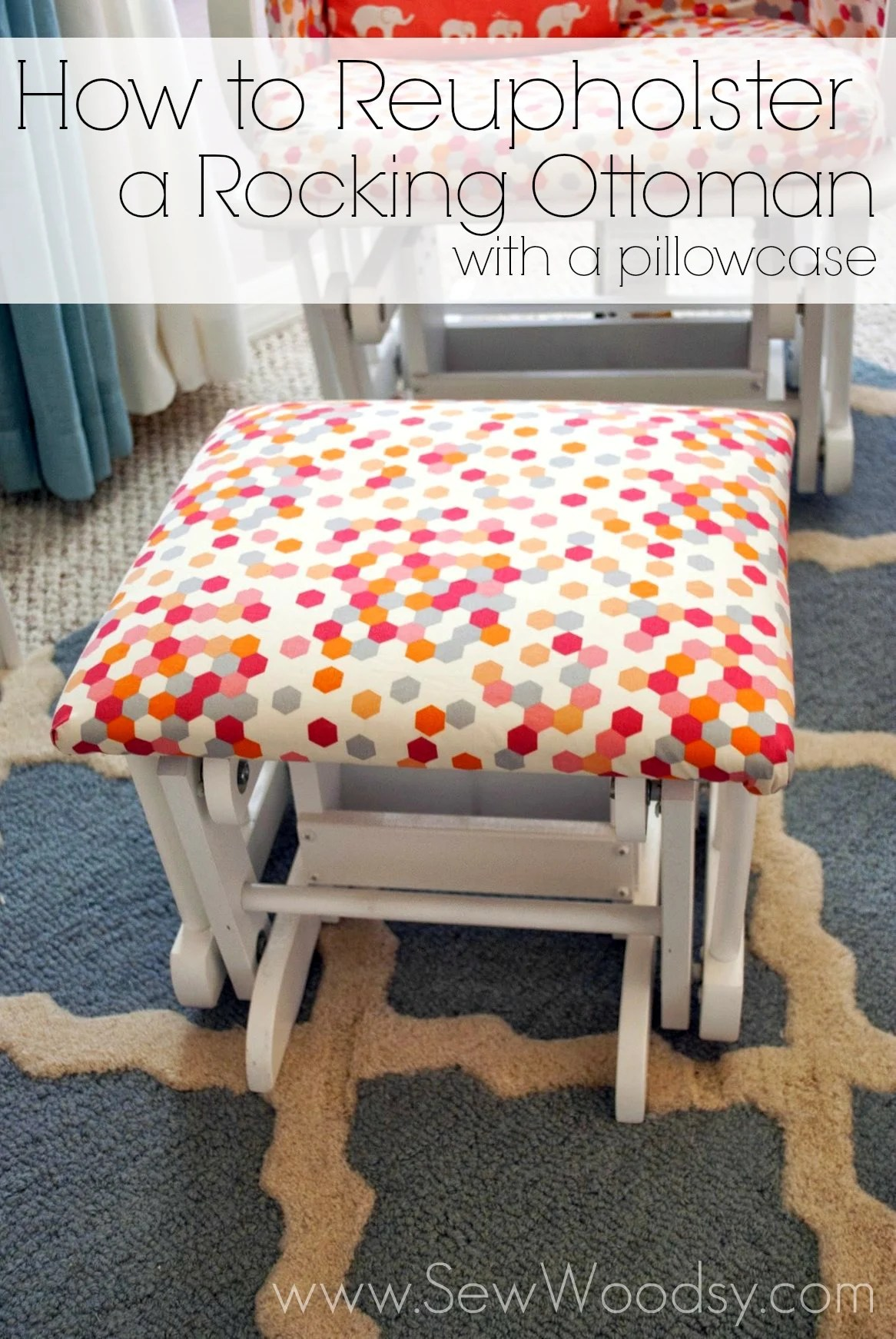 how to recover a sofa without sewing bed shops glasgow reupholster ottoman no sew finest trim the corners with
