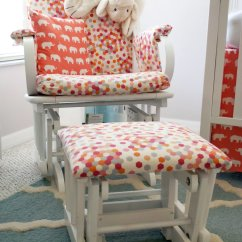 Polka Dot Rocking Chair Cushions Used Massage Chairs Coral And Aqua Nursery Sew Woodsy