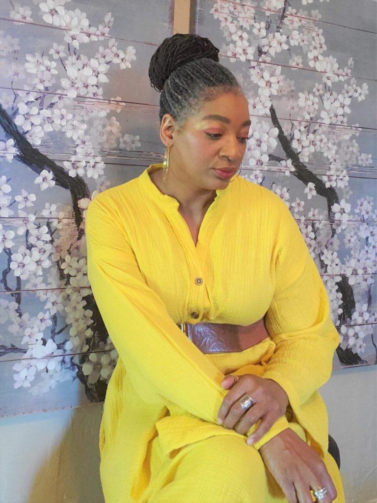 Simplicity S9102 Yellow Gauze Full Length Caftan/ www.sewzaizay.com
