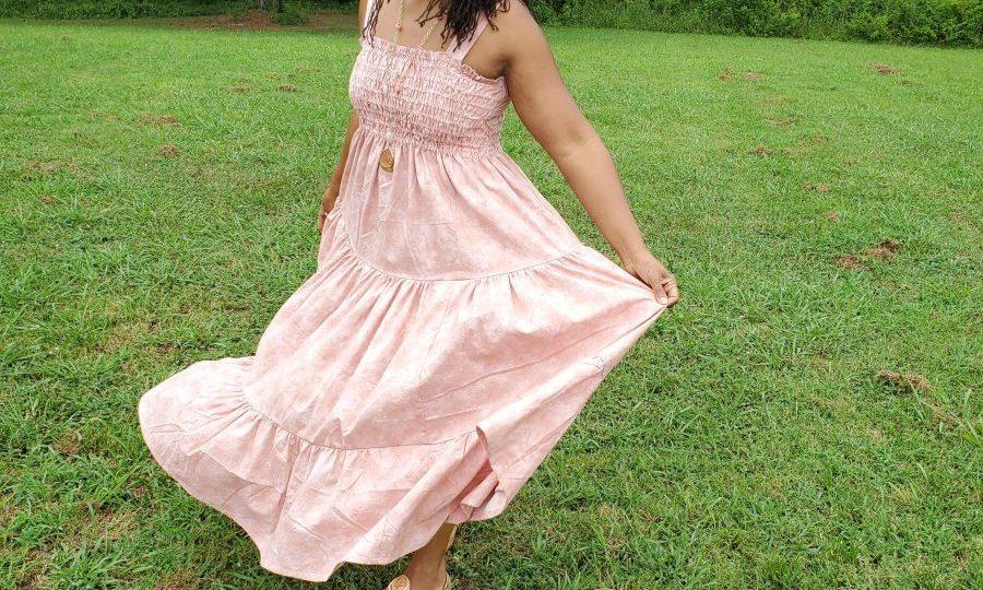 Simplicity S9141 Pink Tiered Sundress
