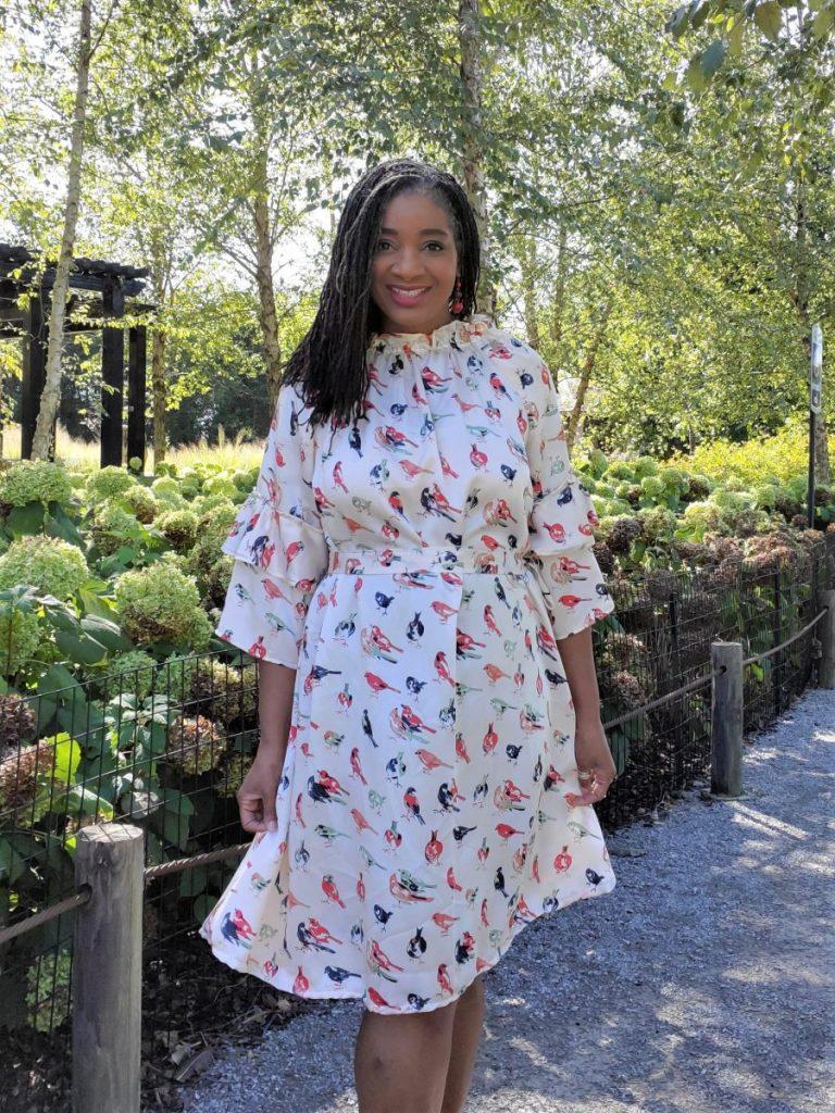 Simplicity S9012 Ruffled Dress/ www.sewzaizay.com