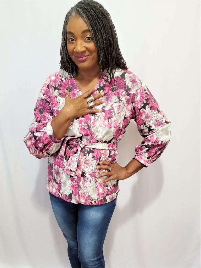 Simplicity S9047 Woven Jacket with Pockets and Belt/ www.sewzaizay.com