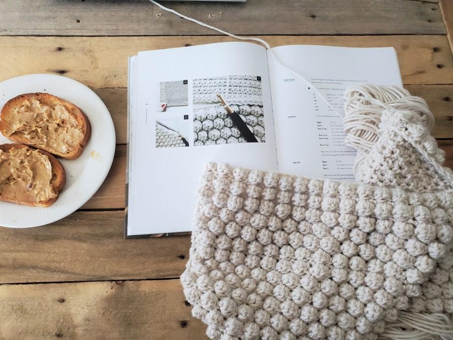 Work in Progress Crochet Pillow