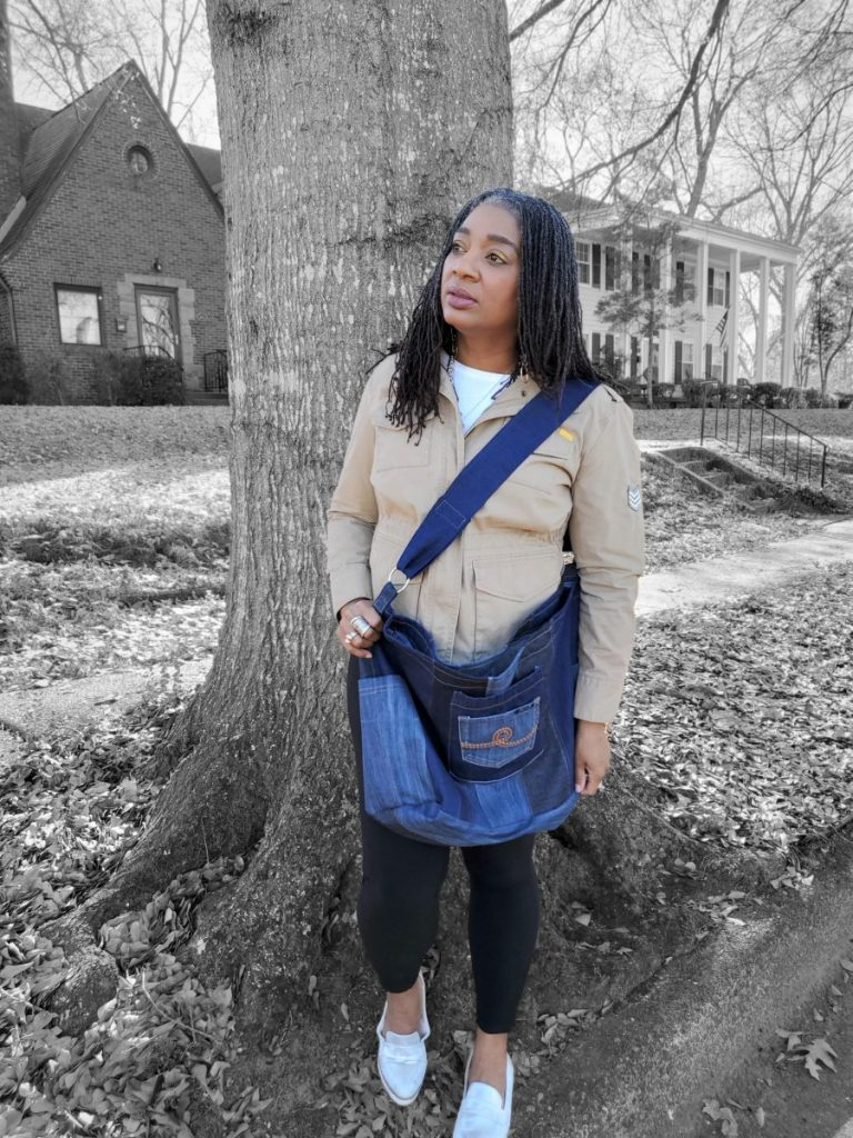 Oversized Bag from Old Jeans