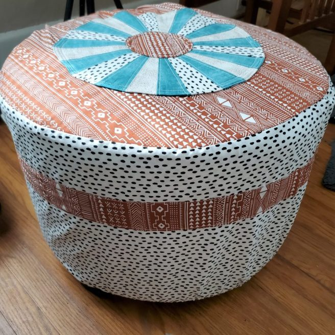 Drexel Wheel Ottoman Cover