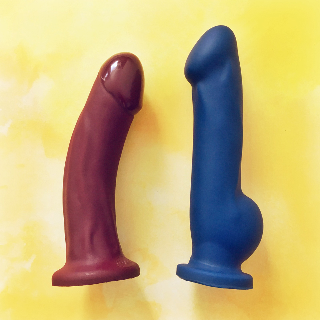 photo of Blush Ergo and Tantus Adam Super Soft next to each other