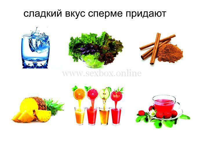 Вкус спермы. Продукты придают сладкий вкус