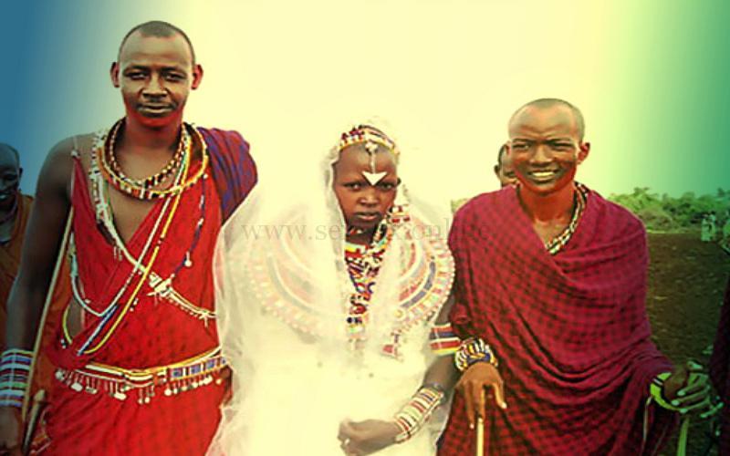 Тибетская семья с 2-я мужьями
