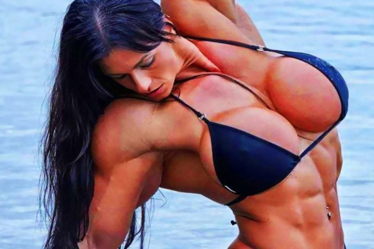 sexy woman bodybuilder