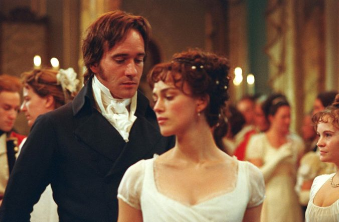 An image from Pride and Prejudice showing Darcy and Elizabeth dancing