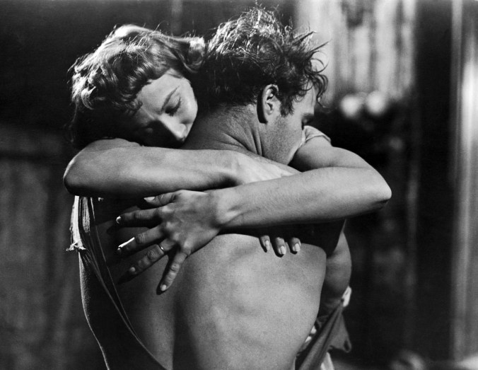 An image from A Streetcar Named Desire of Stanley and Stella