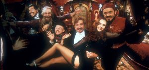 The main cast from the Moulin Rouge