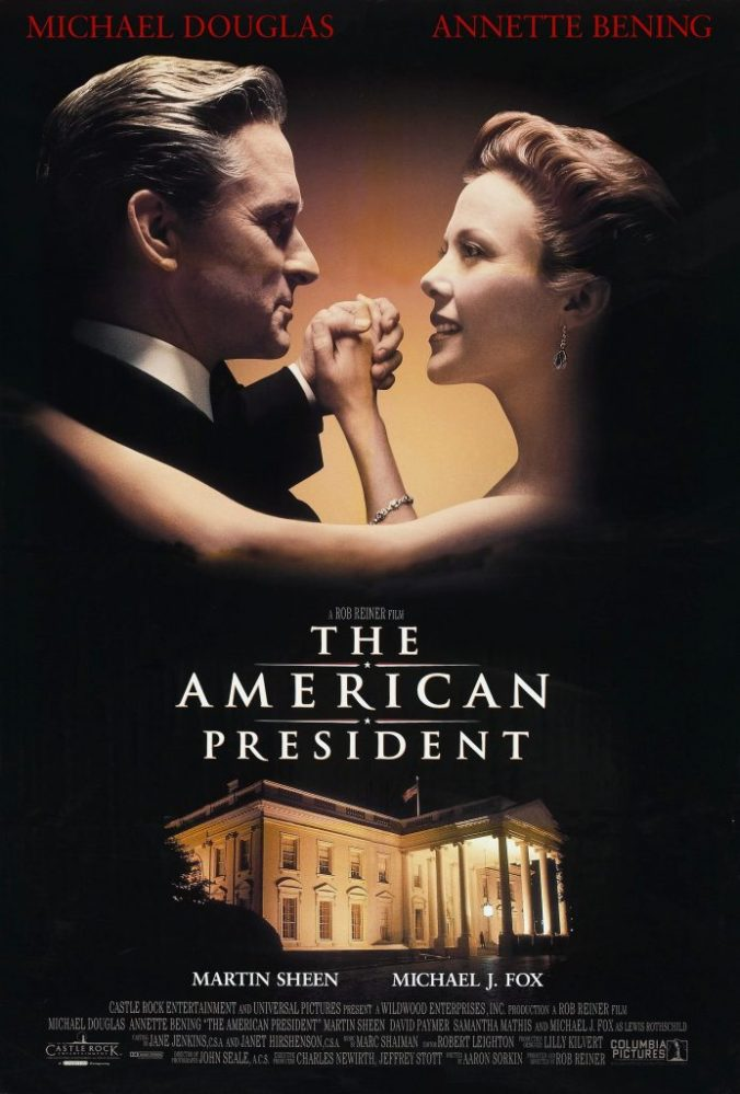 The poster for The American President