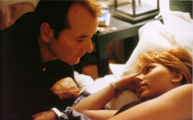 From Lost in Translation, Bob and Charlotte looking fondly at each other.