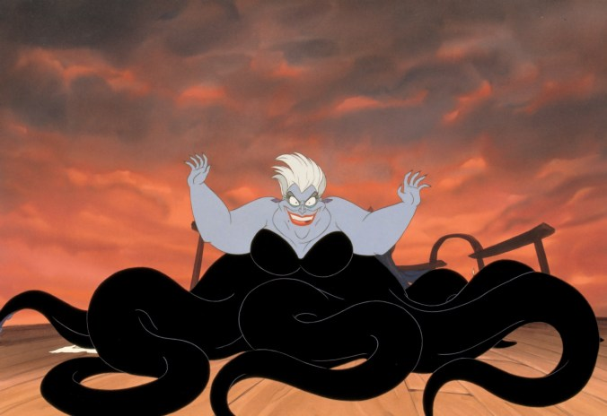 Ursula, looking terrifying and enormous!