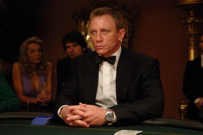Bond playing poker in Casino Royale