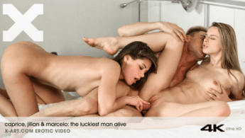 Caprice and Jillian on X Art in The Luckiest Man Alive Threesome