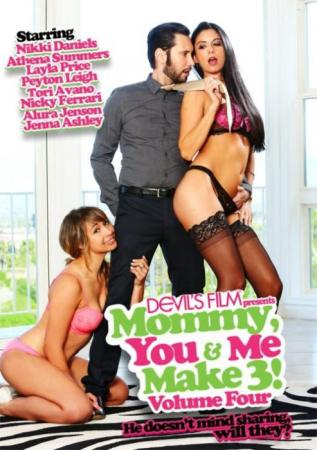 Devil's Film, Mommy, You & Me Make 3, Nikki Daniels, Athena Summers, Layla Price, Peyton Leigh, Tori Avano, Nicky Ferrari, Alura Jenson, Jenna Ashley, Adult DVD, 18+ Teens, All Sex, Family Roleplay, Mature, MILF, Old & Young Females (18+), Older Men, Threesomes