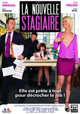 La Nouvelle Stagiaire, The New Trainee, 2017 Porn Movie, Jacquie et Michel, Fabien Lafait, Alix Feeling, Amel Annoga, Luna Rival, Adult DVD, 18+ Teens, French, Blonde, Brunette, Small Tits