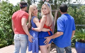 Family Strokes - Sarah Vandella, Zoey Parker (I Pledge Allegiance To My Father Figures Cock)