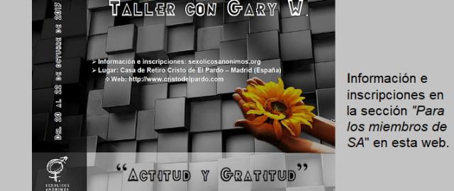 """Taller con Gary W. """"Actitud y Gratitud"""""""