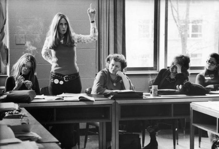Reunión de trabajo Gloria Steinem y Betty Friedan