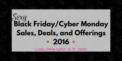 Black Friday and Cyber Monday Sex Toy Sale and Deals