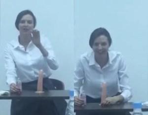 Aula de Boquete, Professora ensina como Chupar um Pau