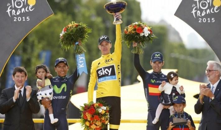 Ultimo podio, con Quintana, Froome y Valverde. Fuente: marca.com