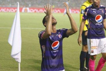 Juan David Cabezas celebrando el gol del empate para el DIM Vía: El Tiempo