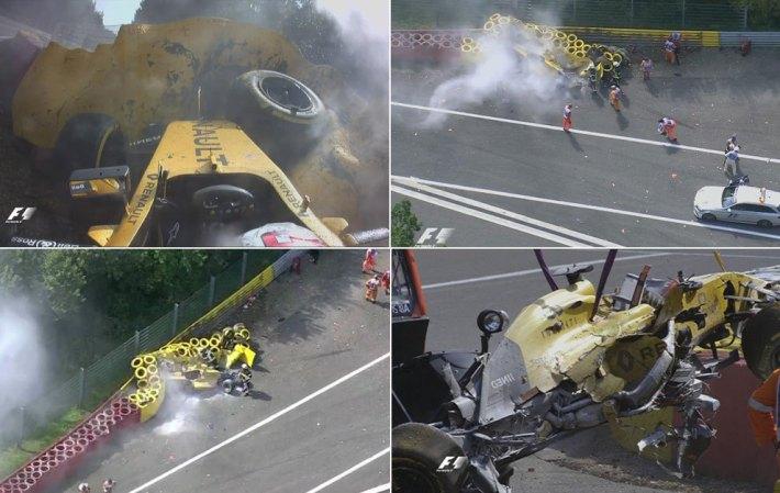 Imágenes del accidente de Magnussen (via Marca.com)