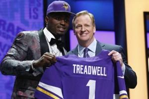 El novato receptor Laquon Treadwell en el Draft