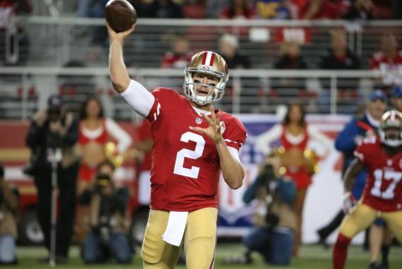 Blaine Gabbert guío a su equipo a la victoria foto: http://www.49ers.com/